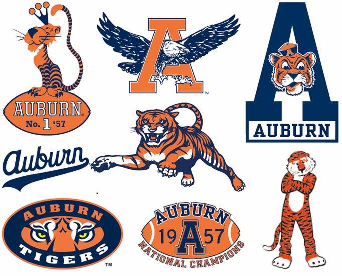 Auburn Logos Then And Now Auburn Uniform Database