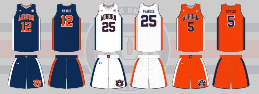 5c82aec49386 Auburn Tigers Men s Basketball Uniform History - Auburn Uniform Database