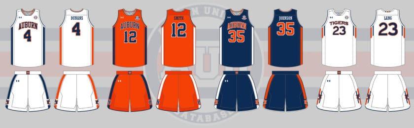 sports shoes eb0d3 376cc Auburn Tigers Men's Basketball Uniform History - Auburn ...