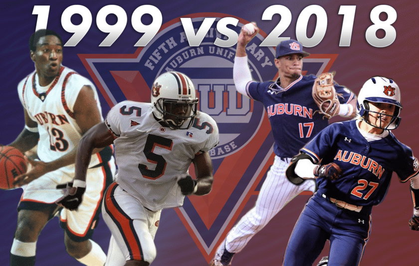 Auburn Athletics 1999 Vs 2018 Auburn Uniform Database