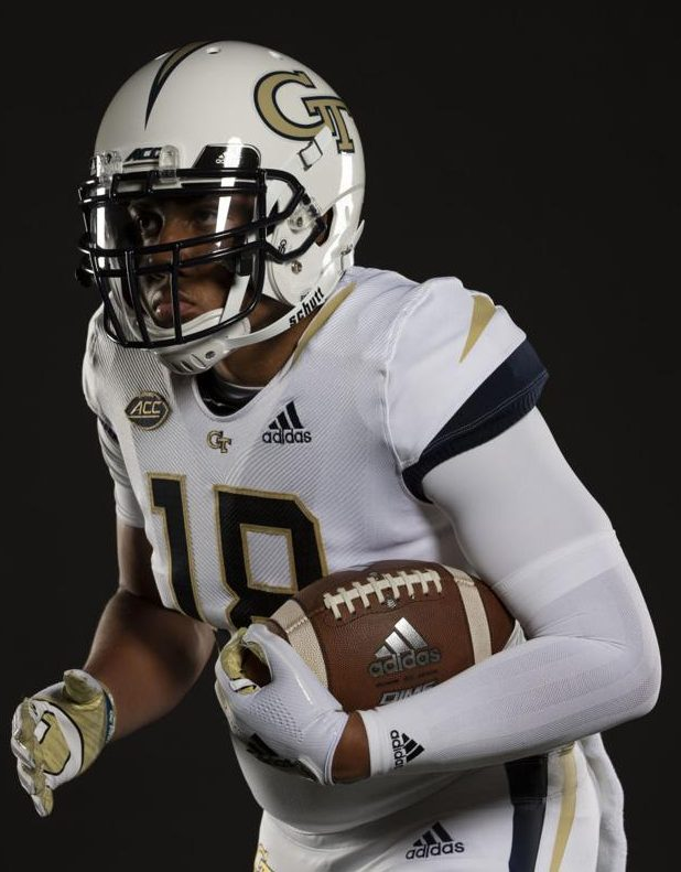 6c637cf5336 GT's new stinger-inspired uniforms are a great evolution of their uniforms.  (image via Georgia Tech Athletics)