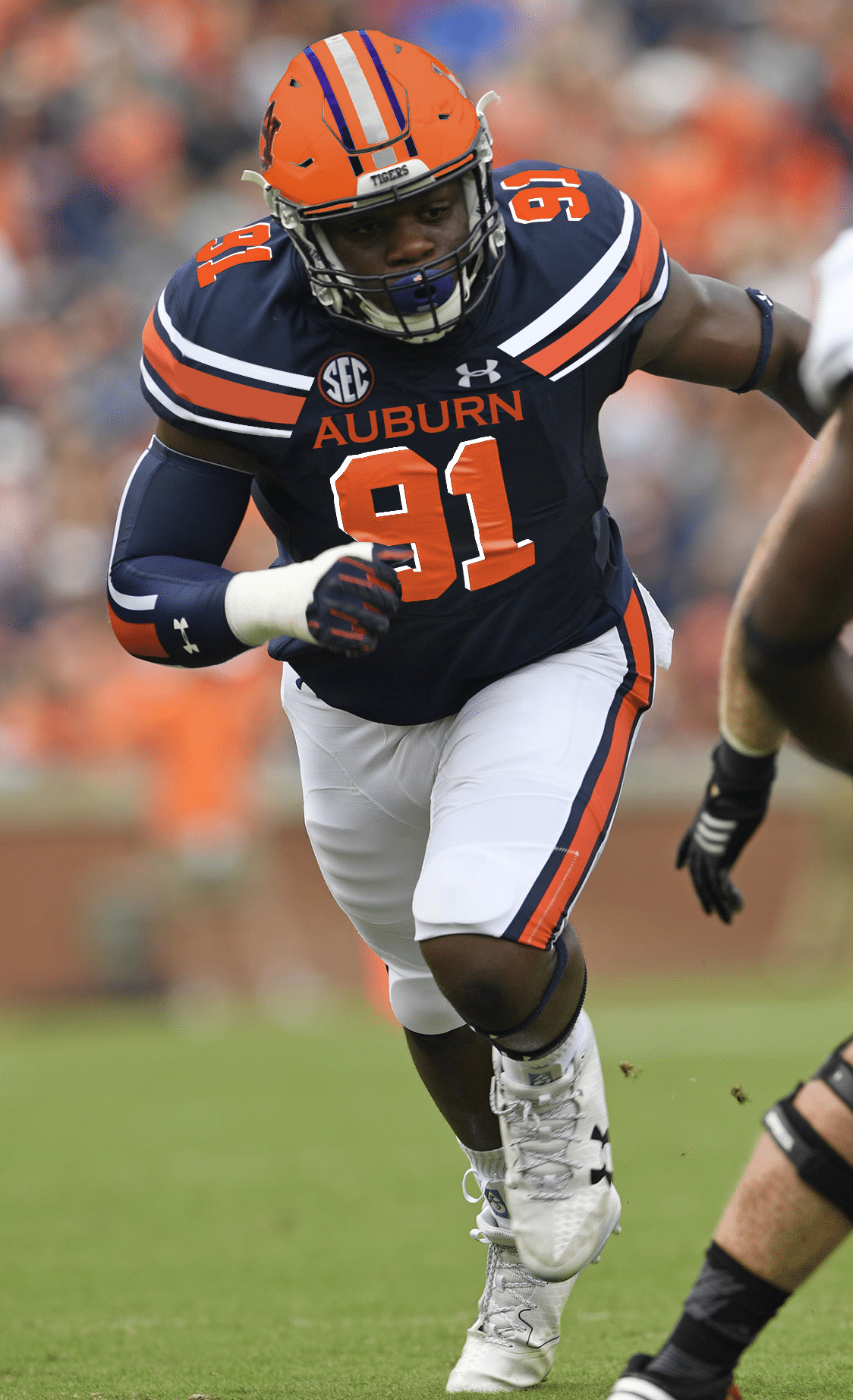aa04e3c14d9 Auburn has one of the most traditional uniforms in college football. But  what about using even more traditional elements? That's what Carter wanted  to see.