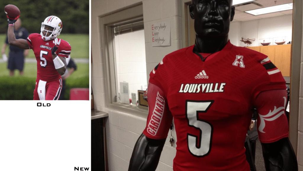 : adidas Louisville Cardinals Mens Black Versa