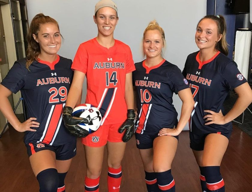 8a2f59f34a6 Auburn Soccer Reveals Half-Sash Kits - Auburn Uniform Database