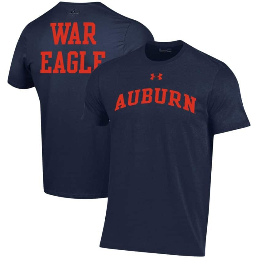 6f1ff463142 There really aren t many Under Armour shirts with designs on the front and  back for Auburn. Now you can showcase your school spirit on the front in a  nice ...
