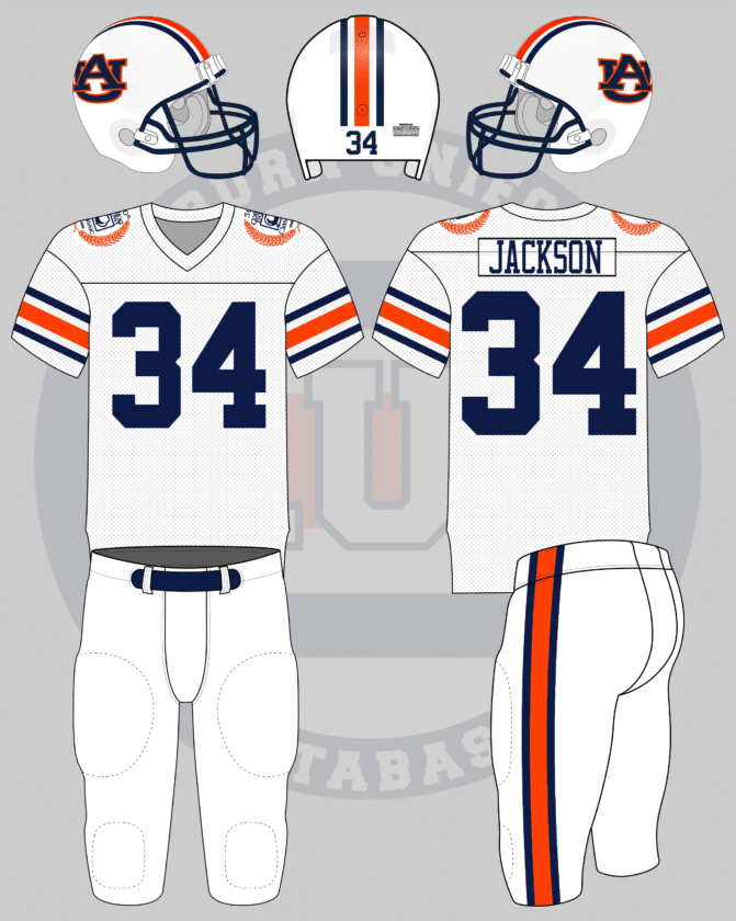 newest cffbb 759e2 Auburn Through the Years – Football: 1980 - Auburn Uniform ...
