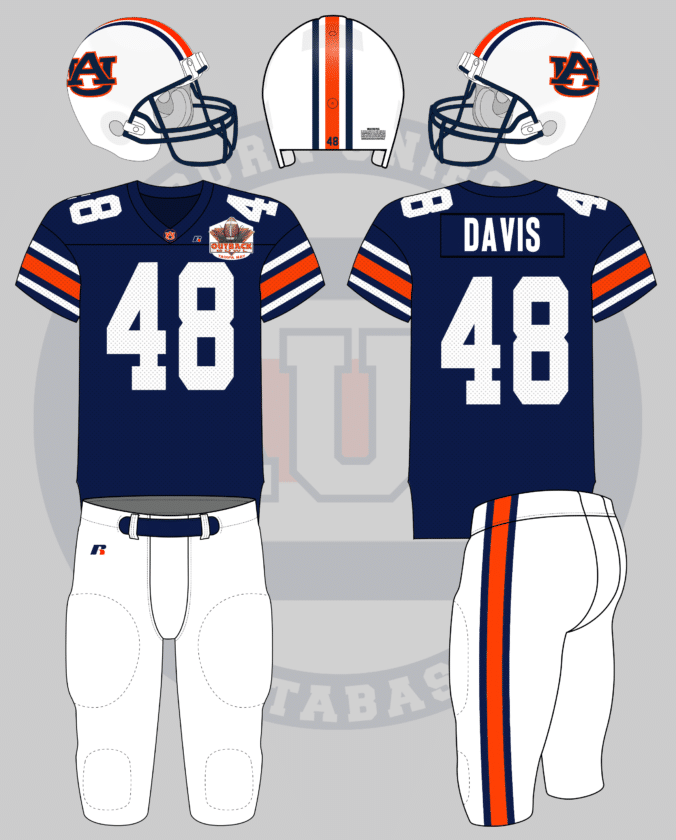 2445eeb5ec67 Auburn Tigers Football Bowl Game Uniform History - Auburn Uniform ...