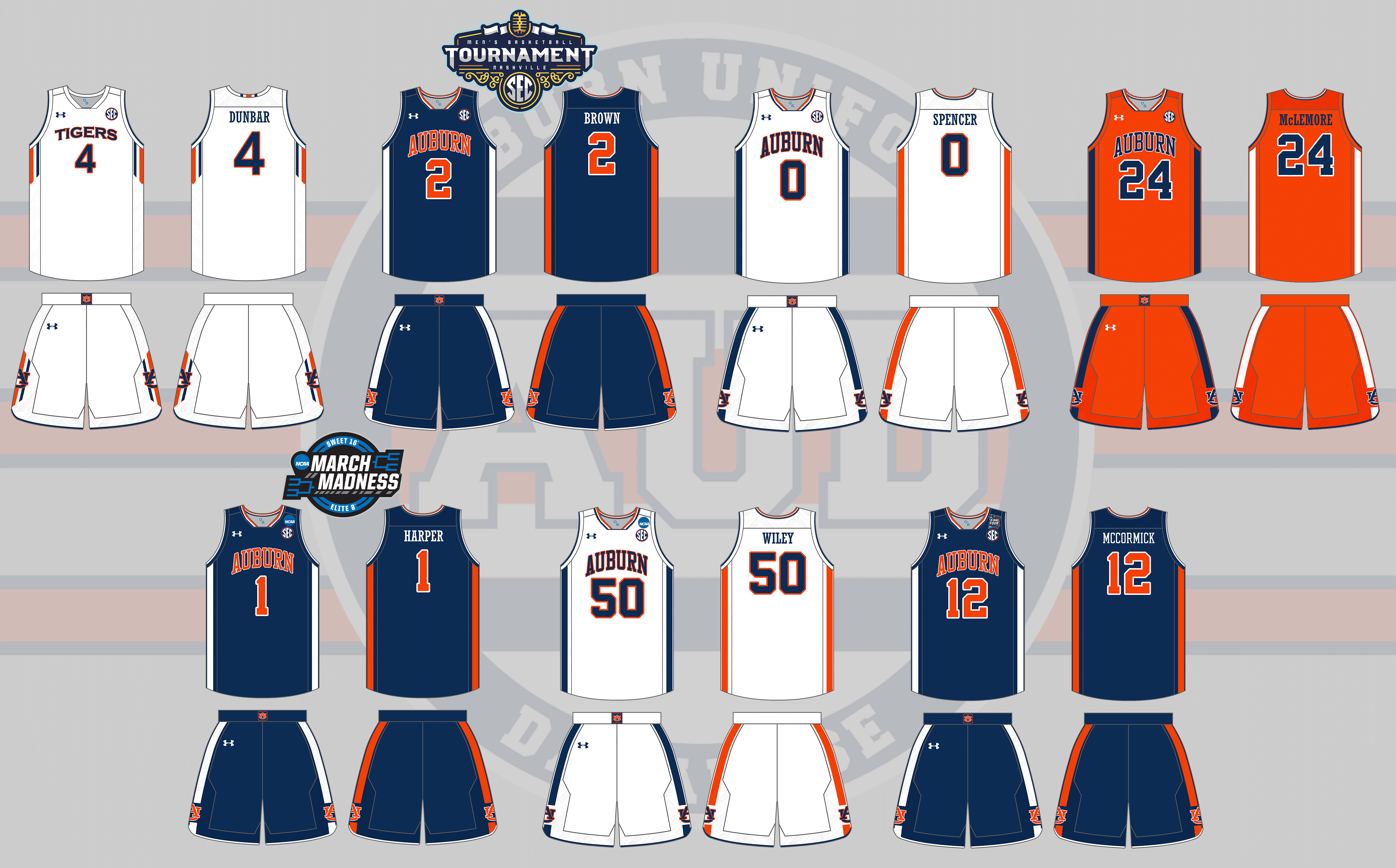 auburn tigers men u0026 39 s basketball uniform history