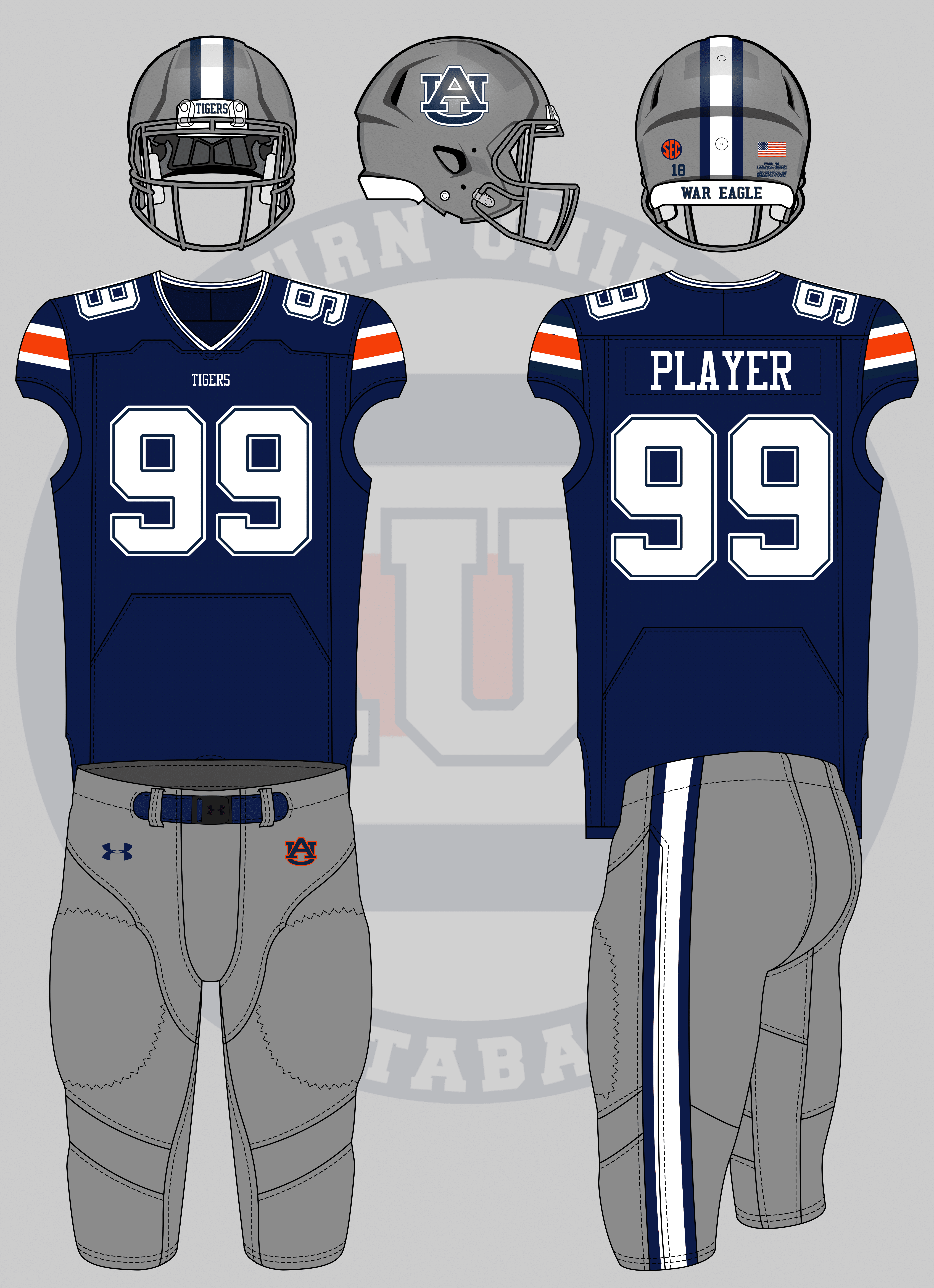 buy popular e1832 040fa Crazy Auburn Concept Uniforms - Round 5 - Auburn Uniform ...